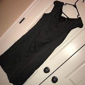 Grey sheath dress